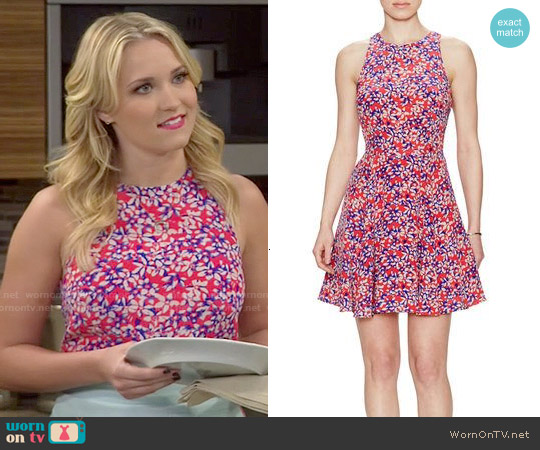 Yumi Kim Happy Hour Dress in Coral Daisy worn by Emily Osment on Young & Hungry