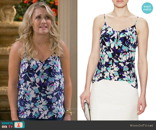 Yumi Kim Lena Cami in Tropical Burst worn by Emily Osment on Young & Hungry