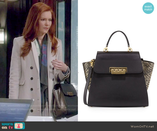 Zac Posen Eartha Metallic Colorblock Leather Tote Bag worn by Abby Whelan on Scandal