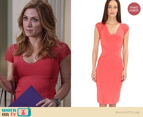 Zac Posen Pointelle Dress worn by Sasha Alexander on Rizzoli and Isles