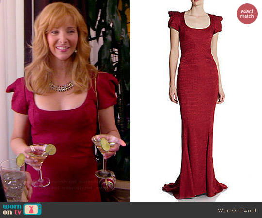 Zac Posen Structured Gown worn by Lisa Kudrow on The Comeback