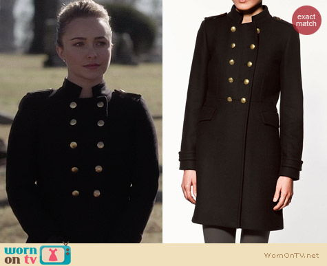 WornOnTV: Juliette's black military coat on Nashville | Hayden ...