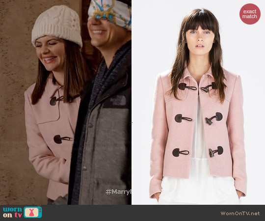 Zara Blazer with Toggles worn by Casey Wilson on Marry Me