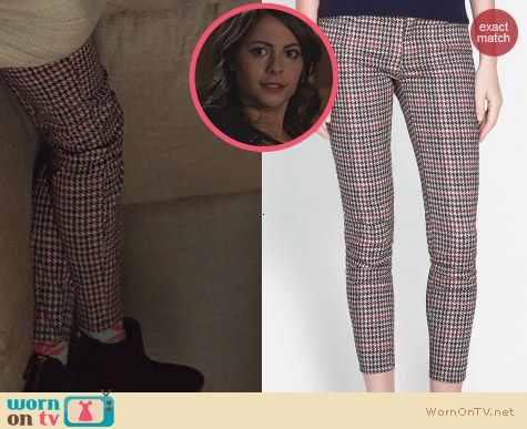 Zara Checked Trousers worn by Willa Holland on Arrow
