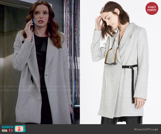 Zara Coat with Wide Collar by Zara worn by Danielle Panabaker on The Flash