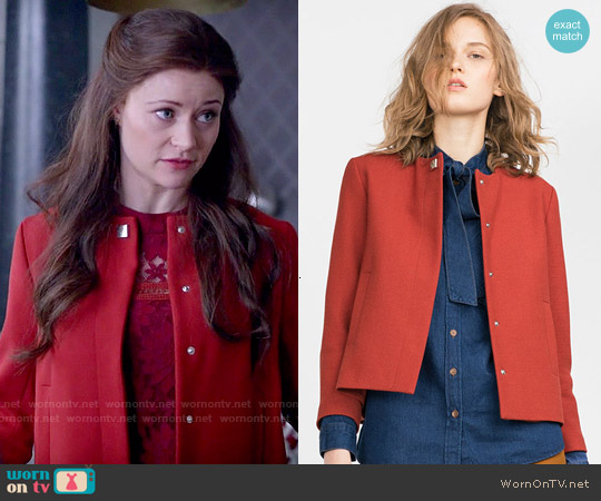 Zara Crepe Blazer worn by Emilie de Ravin on OUAT