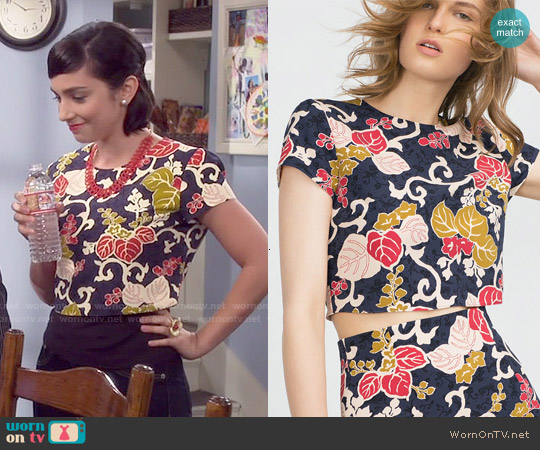 Zara Crop Top worn by  Molly Ephraim on Last Man Standing