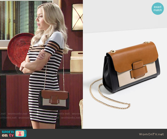 Zara Crossbody Bag with Front Pocket worn by Abby Newman on The Young & the Restless