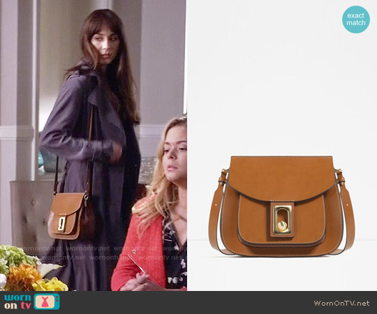 Zara Cross Body Bag with Fastening Detail worn by Troian Bellisario on PLL