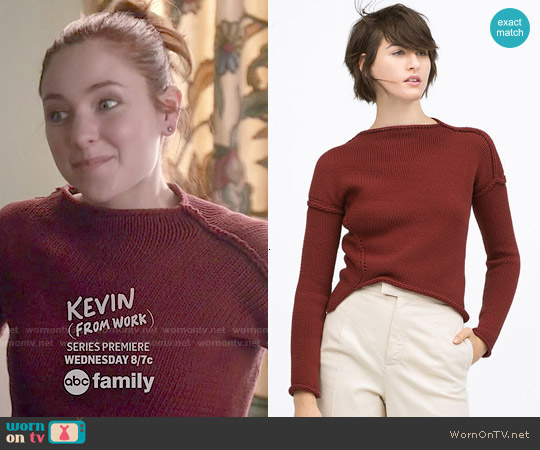 Zara Diagonal Knit Sweater worn by Haley Ramm on Chasing Life