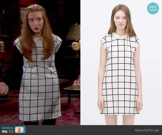 Zara Dress with Contrasting Collar worn by Ashlyn Pearce on The Bold & the Beautiful
