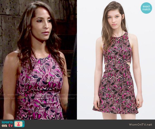 Zara Dress with Side Slits worn by Christel Khalil on The Young & the Restless