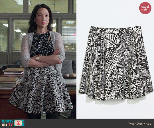 Zara Flared Skirt with Pockets worn by Joan Watson on Elementary