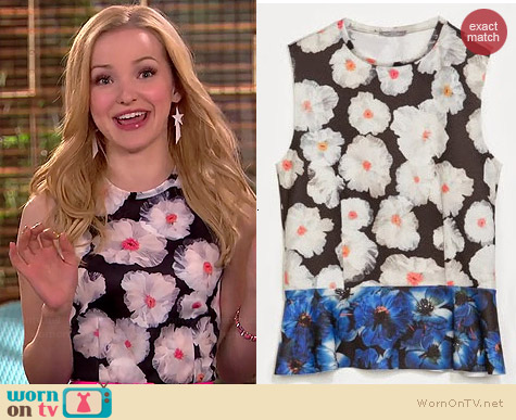Zara Floral Peplum Top worn by Dove Cameron on Liv & Maddie