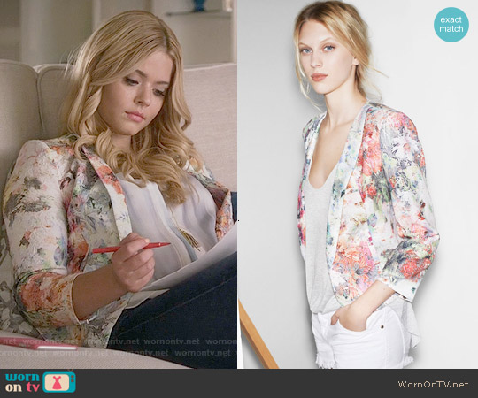Zara Floral Blazer worn by Sasha Pieterse on PLL