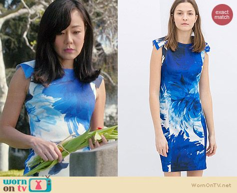 Zara Flower Print Shift Dress worn by Yunjin Kim on Mistresses