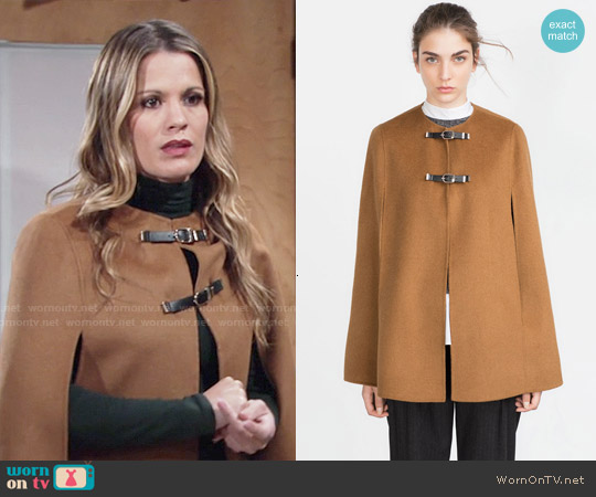 Zara Hand Made Cape worn by Melissa Claire Egan on The Young & the Restless