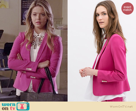 Zara Light Wool Blazer worn by Sasha Pieterse on PLL