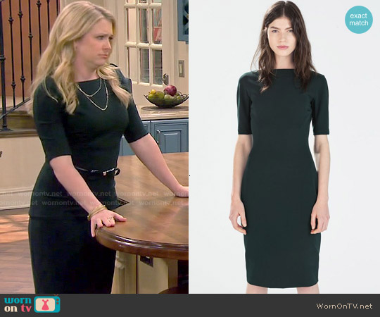 Zara Long Shift Dress worn by Melissa Joan Hart on Melissa & Joey