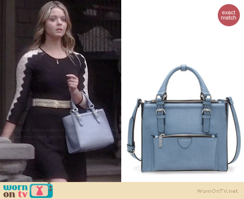 Zara Mini City Bag with Zip Details worn by Sasha Pieterse on PLL