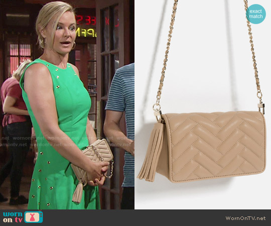 Zara Mini Cross Body Bag worn by Sharon Collins on The Young & the Restless