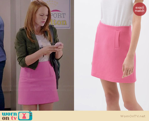 Zara Mini Skirt in Pink worn by Katie Leclerc on Switched at Birth