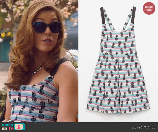 Zara Pineapple Dress worn by Kaitlyn Black on Hart of Dixie