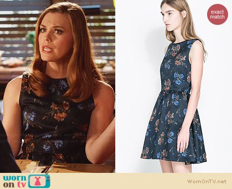 Zara Printed Crossover Dress worn by Kaitlyn Black on Hart of Dixie