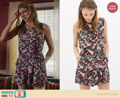Zara Printed Playsuit worn by Jes Macallan on Mistresses