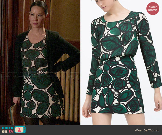 Zara Printed Top & Skirt worn by Lucy Liu on Elementary