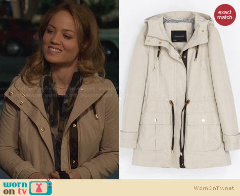 Zara Quilted Parka worn by Erika Christensen on Parenthood
