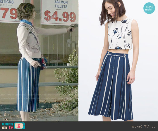 Zara Striped Culottes worn by Carol Pilbasian on Last Man On Earth