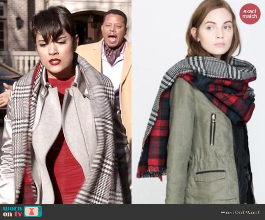 Zara Tartan Blanket Scarf worn by Anika Calhoun on Empire