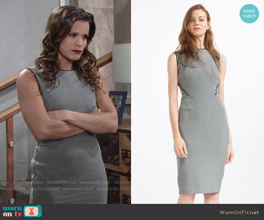 Zara Tube Dress with Piping worn by Melissa Claire Egan on The Young & the Restless