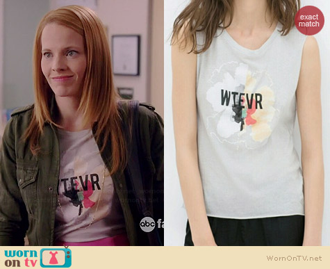 Zara Wtevr Tee worn by Katie Leclerc on Switched at Birth