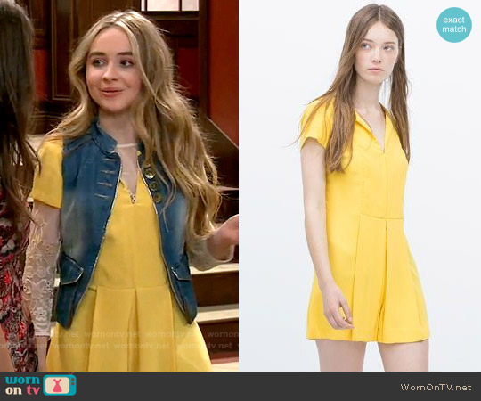 Zara Front Pleat Jumpsuit worn by Sabrina Carpenter on Girl Meets World