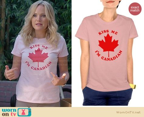 Zazzle Kiss Me I'm Canadian Tee worn by Malin Akerman on Trophy Wife