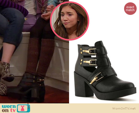 Zigi Soho Torn Bootie worn by Rowan Blanchard on Girl Meets World