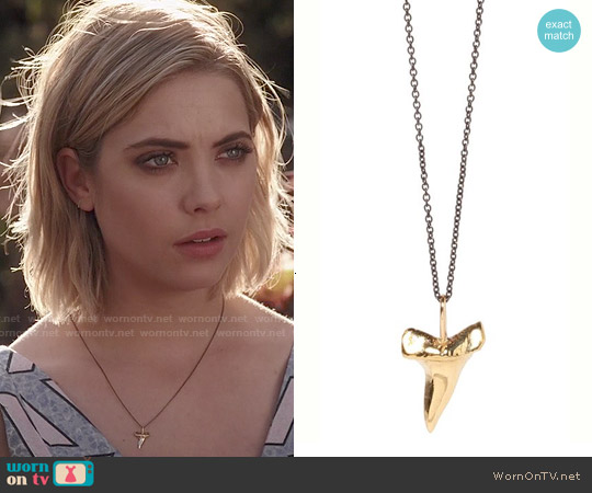Zoe Chicco Mixed Sharks Tooth Necklace worn by Hanna Marin on PLL