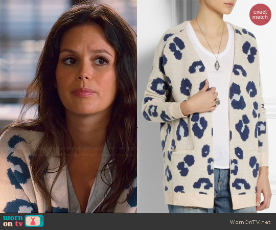Zoe Karssen Leopard Print Cardigan worn by Rachel Bilson on Hart of Dixie