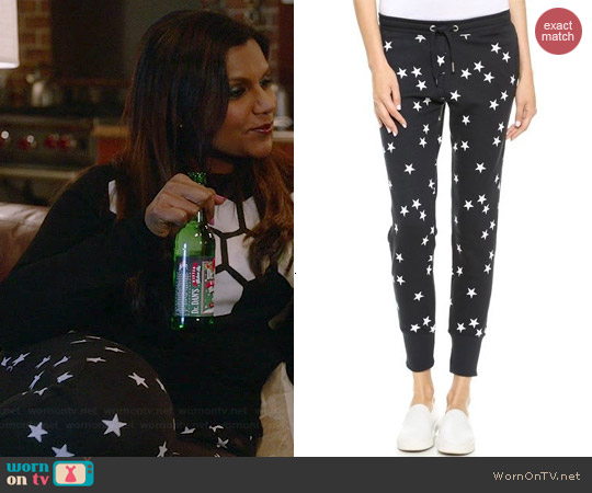 Zoe Karssen Stars Sweatpants worn by Mindy Kaling on The Mindy Project